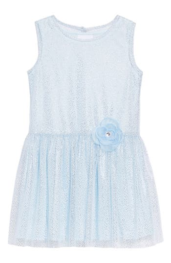 1920s Children Fashions: Girls, Boys, Baby Costumes Toddler Girls Frais Sparkle Mesh Overlay Dress Size 3T - Blue $44.00 AT vintagedancer.com