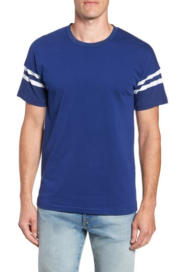 French Connection 24S Tipping Stripe Regular Fit T-Shirt, Blue
