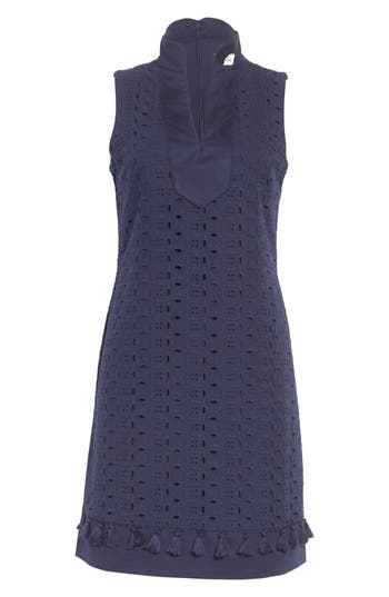 Eliza J Mandarin Collar Shift Dress