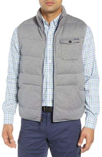 Johnnie-O Lassiter Classic Fit Down Camper Vest, Grey