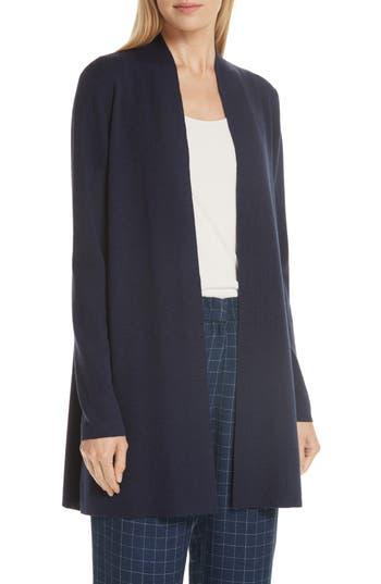 Eileen Fisher Merino Straight Long Cardigan, Blue