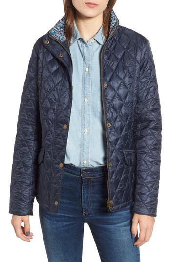 Barbour X Liberty Victoria Quilted Jacket, US / 8 UK - Blue