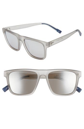 Le Specs The Boss 55Mm Rectangular Sunglasses - Matte Shadow