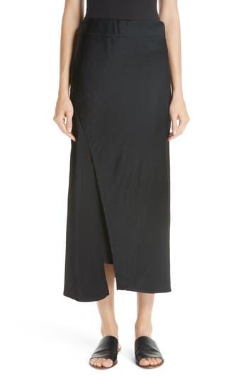 Bias Slip Skirt, Black