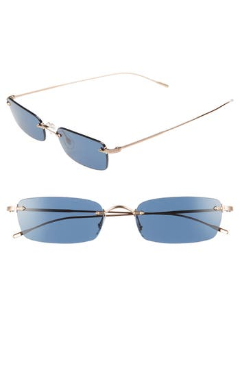 Oliver Peoples Daveigh 5m Rectangular Sunglasses - Rose Gold