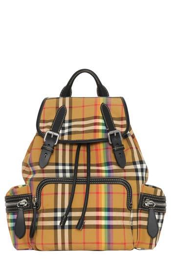 Burberry Medium Rucksack Vintage Check Cotton Backpack - Beige