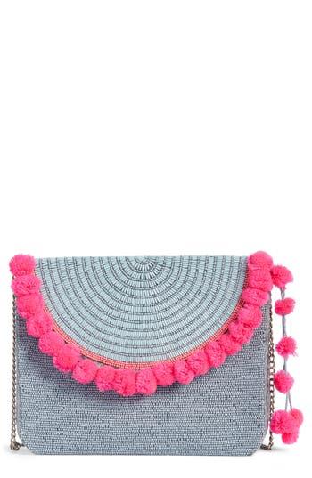 Mariah Beaded Clutch - Blue, Blue/ Pink