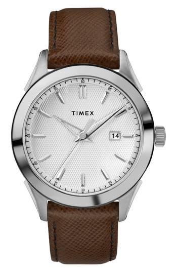Timex Torrington Leather Strap Watch, 40Mm