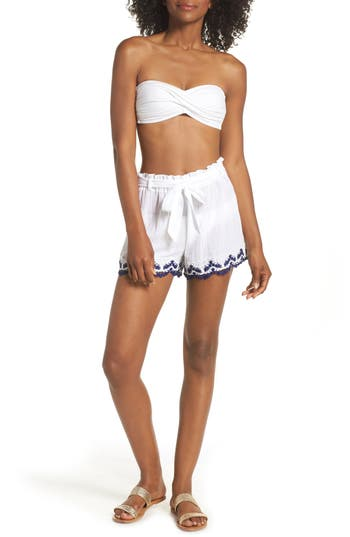 Becca Delilah Cover-Up Shorts, White