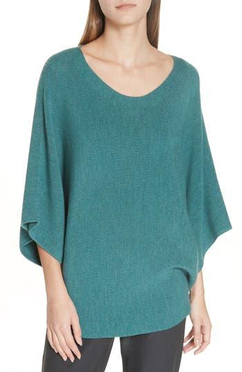 Eileen Fisher Kimono Sleeve Merino Wool Sweater, Green