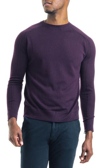 Good Man Brand Modern Slim Fit Merino Wool Sweater, Burgundy