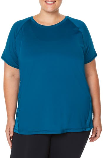 Plus Size Shape Activewear G-Force Tee, Blue