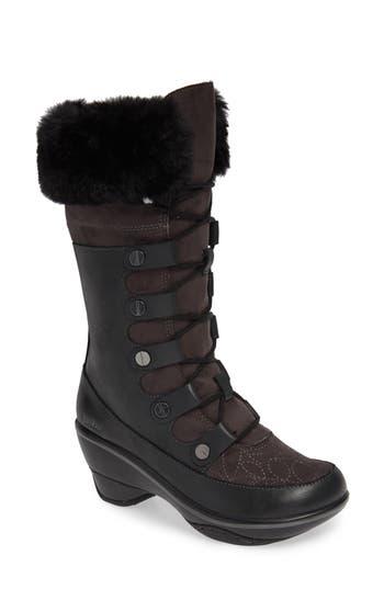 Jambu Cruiser Faux Fur Trim Boot, Black