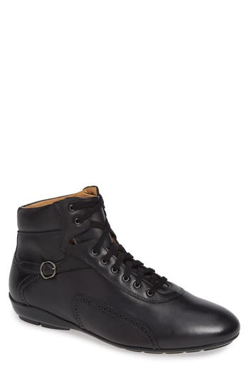 Pasquale High Top Sneaker, Graphite Leather