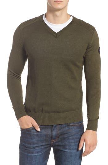 Canada Goose Mcleod V-Neck Merino Wool Sweater, Green