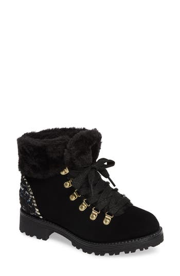Jack Rogers Charlie Faux Shearling Lined Bootie, Black