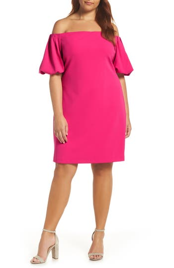 Vince Camuto Off The Shoulder Sheath Dress, Pink