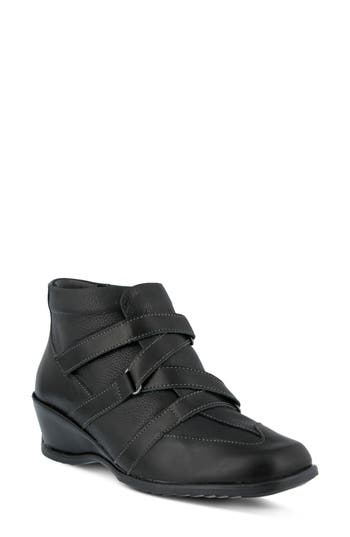 Spring Step Allegra Wedge Bootie, Black