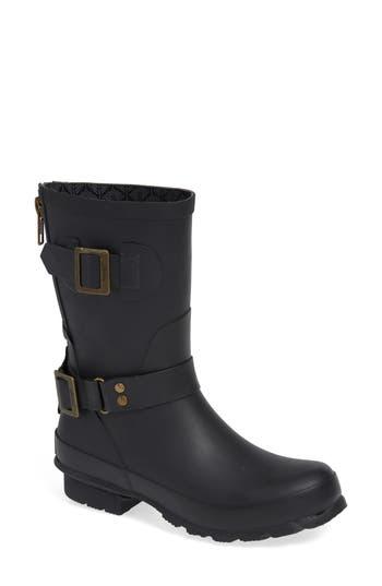 Joules Biker Welly Rain Boot, Black