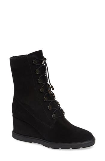 Aquatalia Campbell Wedge Boot- Black
