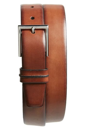 Big & Tall Cole Haan Leather Belt, British Tan