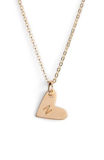 Women's Nashelle 14K-Gold Fill Initial Mini Heart Pendant Necklace