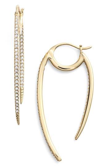 Women's Nadri 'Crescent' Linear Hoop Earrings