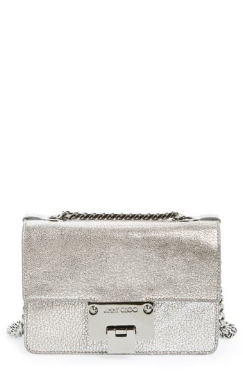 Jimmy Choo Rebel Mini Metallic Leather Crossbody Bag -