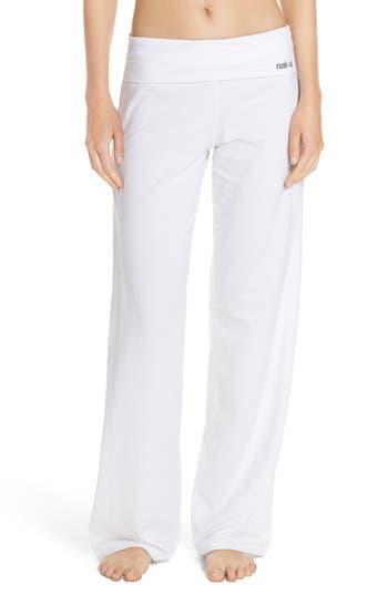 Naked Wide Leg Stretch Cotton Pajama Pants, White