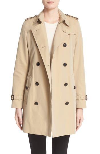 Women's Burberry Kensington Mid Trench Coat