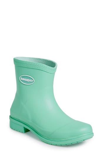 Women's Havaianas 'Galochas Low Matte' Waterproof Rain Boot, Size 39 BR - Green