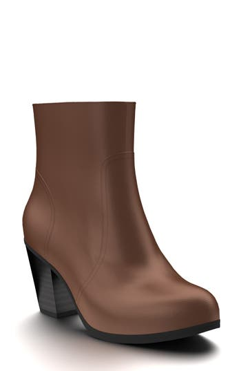 Shoes Of Prey Block Heel Bootie - Brown
