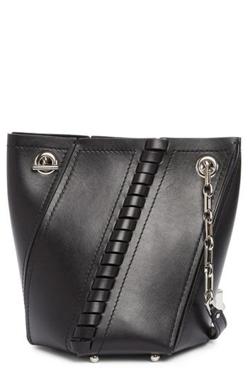Proenza Schouler Leathers MINI HEX WHIPSTITCH LEATHER BUCKET BAG - BLACK