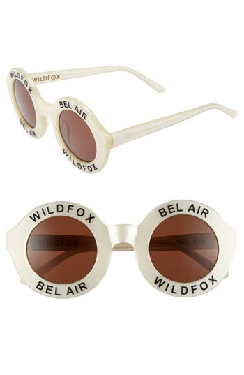 Women's Wildfox 'Bel Air' 44Mm Sunglasses - Pearl White