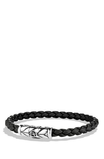 Men's David Yurman 'Chevron' Woven Rubber Bracelet
