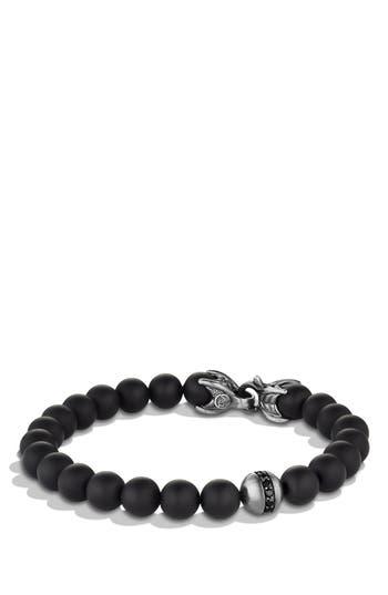 Men's David Yurman 'Spiritual Beads' Bracelet With Black Onyx And Black Diamonds