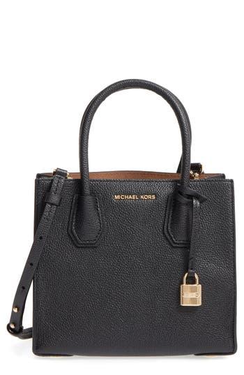 Michael Michael Kors Mercer Leather Crossbody Bag - Black