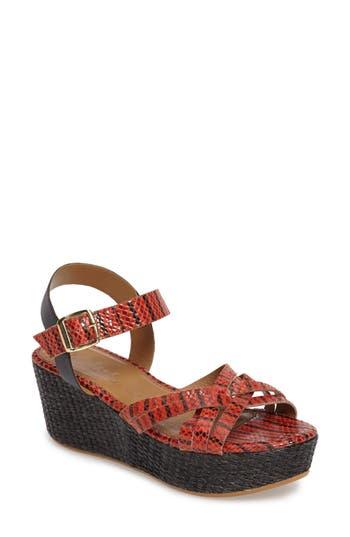 Women's Callisto Valencia Platform Wedge Sandal, Size 6 M - Red