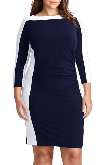 Plus Size Women's Lauren Ralph Lauren Jersey Sheath Dress