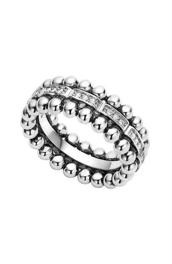 Women's Lagos Caviar Spark Diamond Band Ring