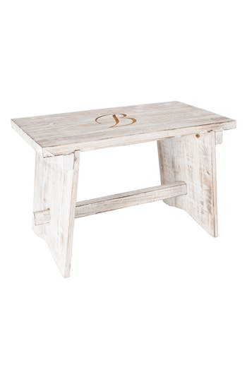 Cathy's Concepts Monogram Guest Book Bench, Size One Size - White