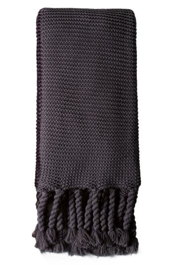 Pom Pom At Home Trestles Oversize Throw Blanket, Size One Size - Black