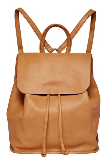 Urban Originals Midnight Vegan Leather Flap Backpack - Brown