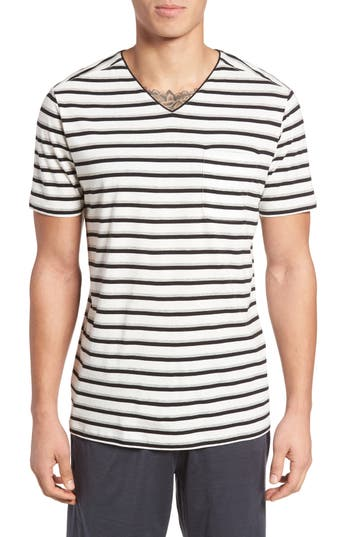 Men's Daniel Buchler Pima Cotton & Modal V-Neck T-Shirt