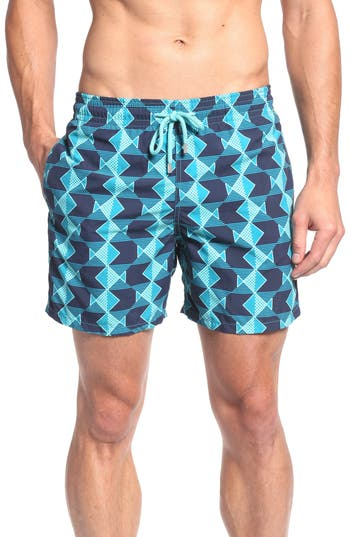 Men's Vilebrequin Graphic Fish Print Swim Trunks
