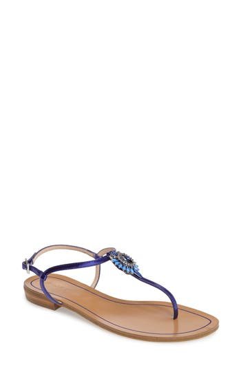 Pelle Moda Baxley 3 Crystal Embellished Sandal