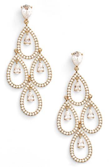 Women's Nadri Crystal Chandelier Earrings