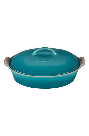 Le Creuset 4 Quart Covered Oval Stoneware Casserole, Size One Size - Blue