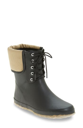 Dav Lace-Up Mid Weatherproof Boot, Black