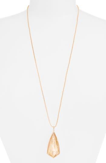 Women's Kendra Scott 'Carole' Long Semiprecious Stone Pendant Necklace